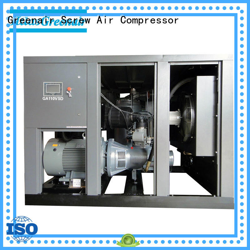 professional variable speed drive air compressor with an asynchronous motor for tropical area Atlas Greenair Screw Air Compressor