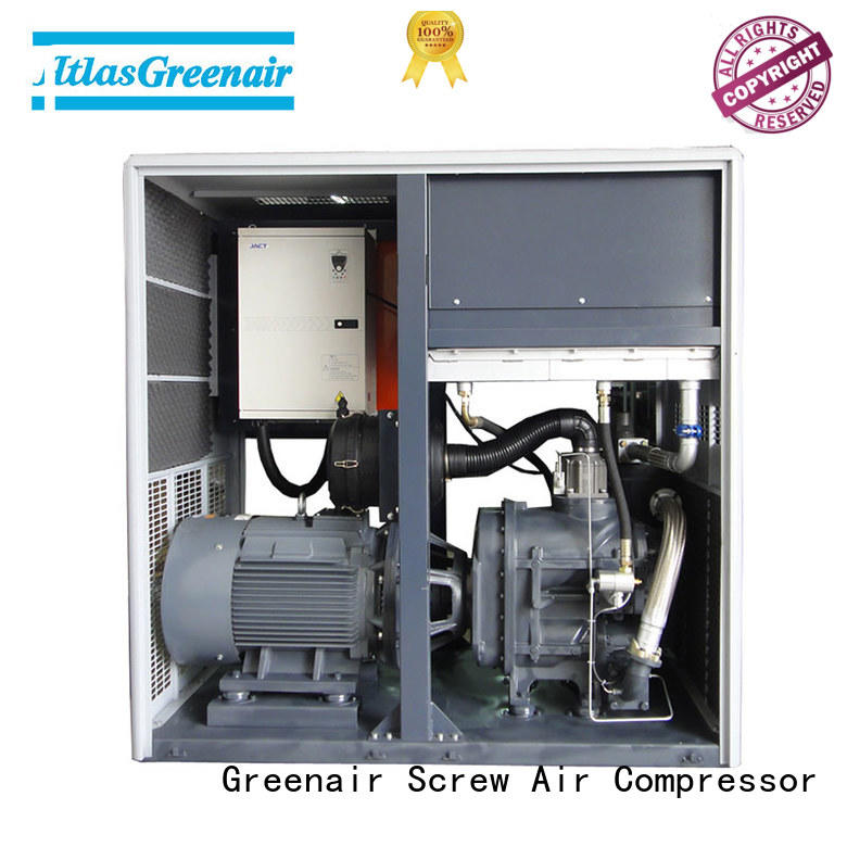 two stage industrial screw air compressor with four pole motor for tropical area