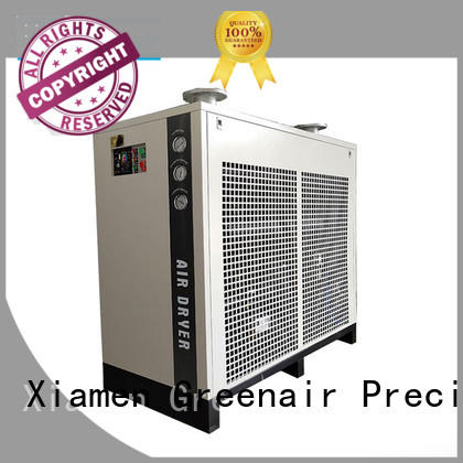 Atlas Greenair Screw Air Compressor refrigerated air dryer with a superior electronic drain valve for tropical area