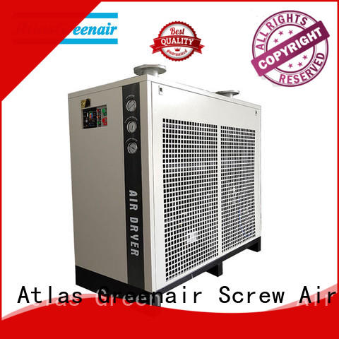 Atlas Greenair Screw Air Compressor reliable air dryer for compressor thick copper pipe for sale