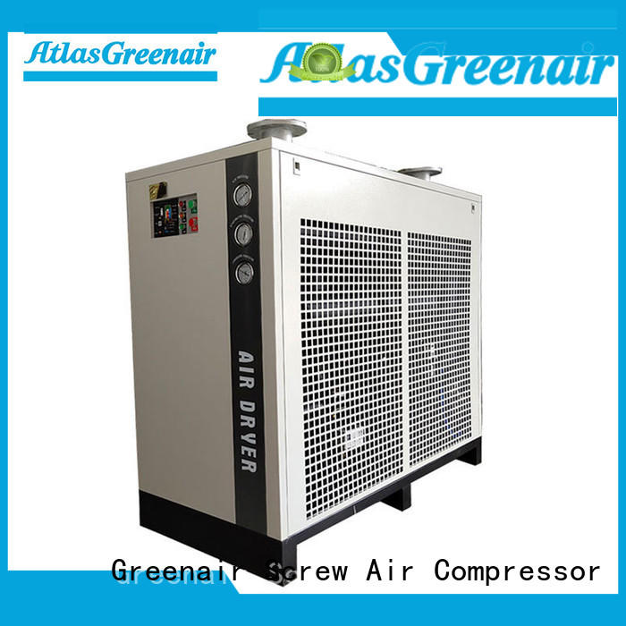 refrigerated air dryer thick copper pipe for tropical area Atlas Greenair Screw Air Compressor