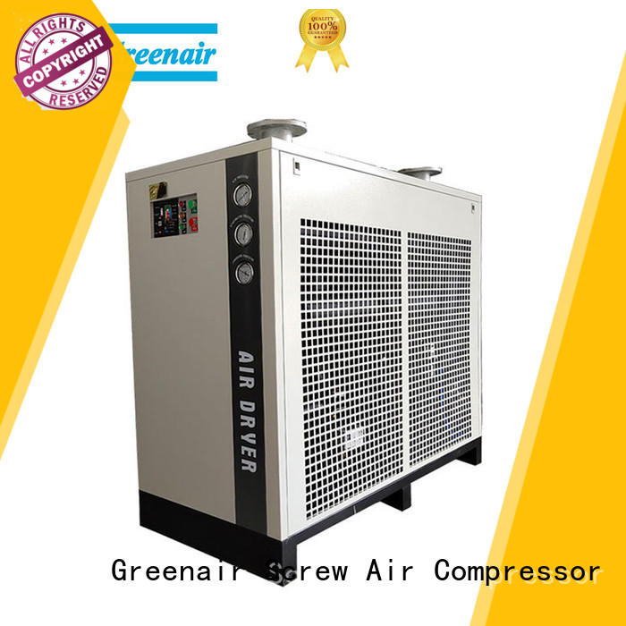 Atlas Greenair Screw Air Compressor high end refrigerated air dryer with a superior electronic drain valve for sale
