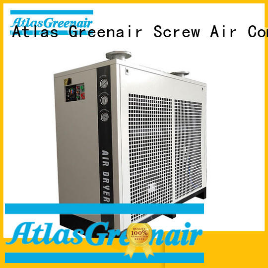 Atlas Greenair Screw Air Compressor refrigerated air dryer with a superior electronic drain valve for sale