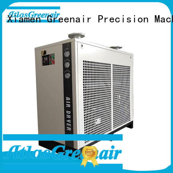 Atlas Greenair Screw Air Compressor high end refrigerated compressed air dryer for sale