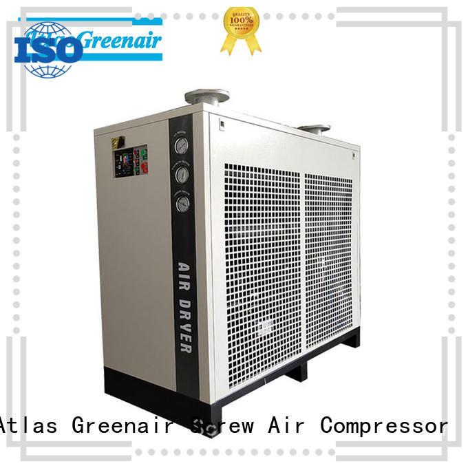 Atlas Greenair Screw Air Compressor high end refrigerated air dryer supplier for sale