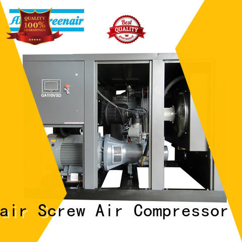 Atlas Greenair Screw Air Compressor variable speed air compressor with four pole motor for tropical area