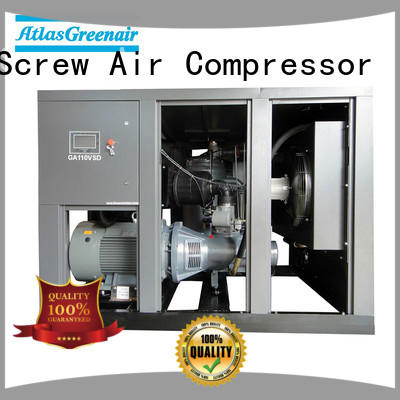 professional industrial screw air compressor with a single air compressor for tropical area Atlas Greenair Screw Air Compressor