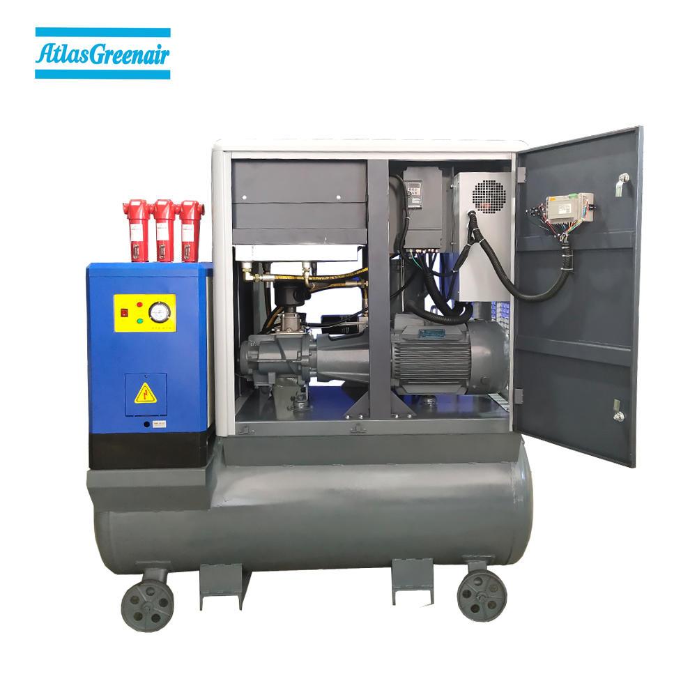 16bar Working Pressure All-In-One Screw Air Compressor For Laser Cutting Machine