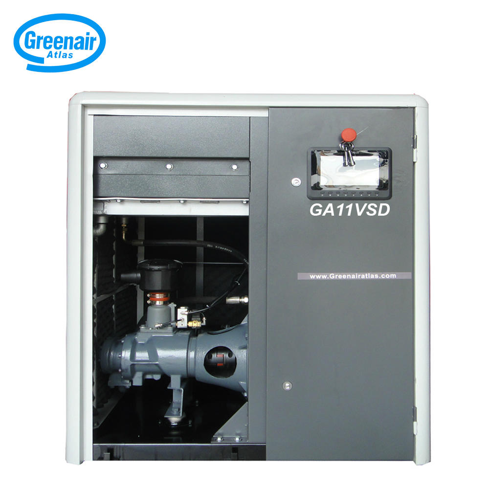 Greenair Atlas GA11VSD Varible Speed Oil Flooded Screw Air Compressor