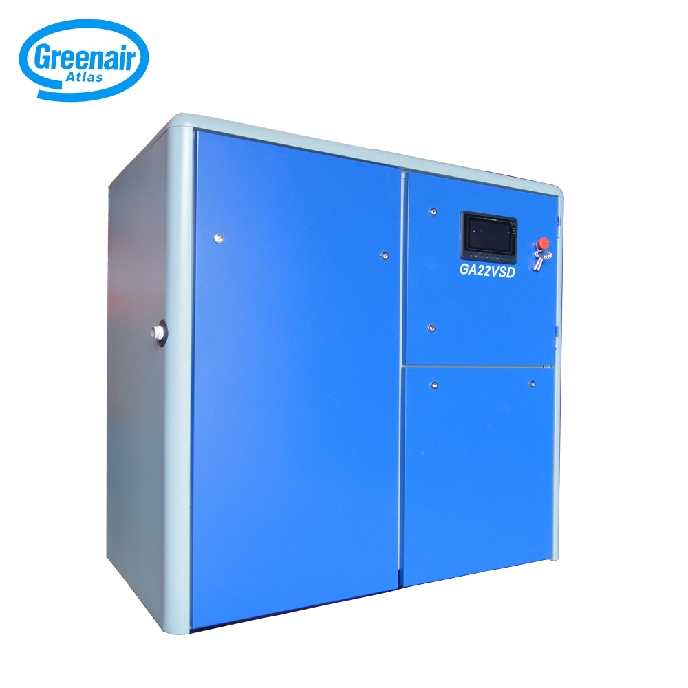 Atlas Greenair Screw Air Compressor cheap variable speed air compressor company for tropical area-2