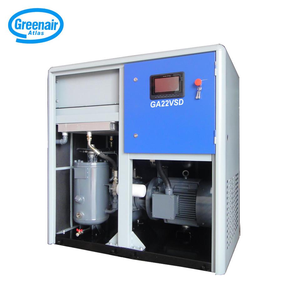 Greenair Atlas GA22VSD Variable Speed High Efficiency Screw Type Air Compressor