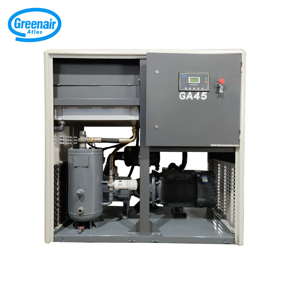 Greenair Atlas GA45 45kW 50HP Rotary Type Screw Air Compressor