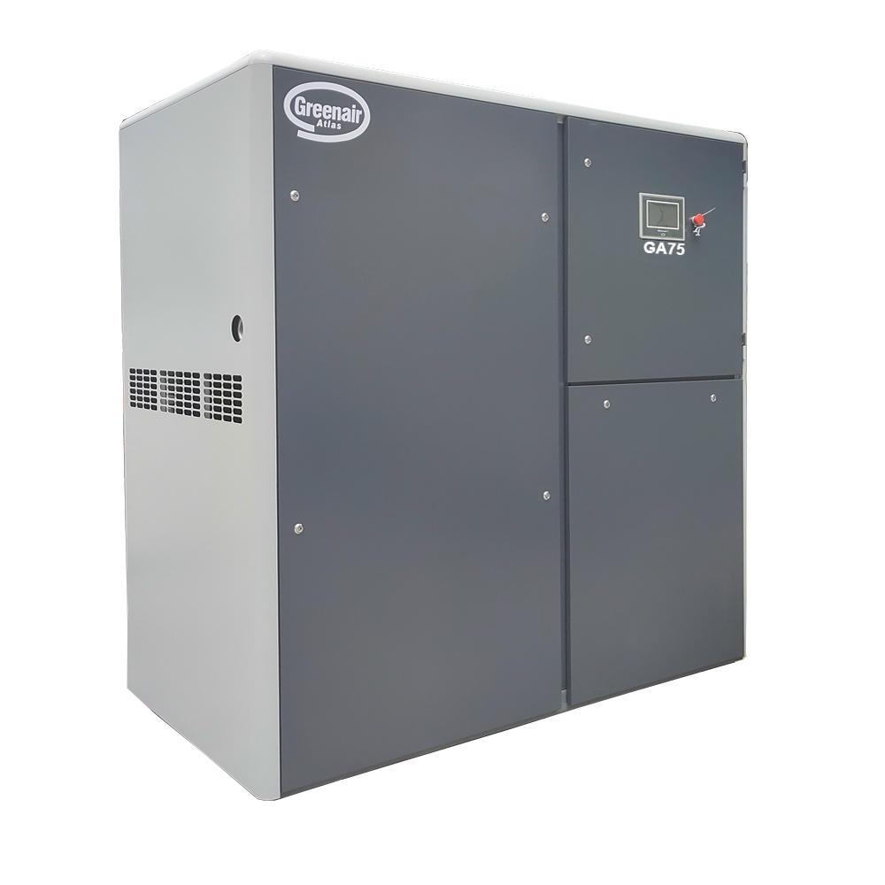 Greenair Atlas GA75 75kW 100HP 8bar 10bar 13bar Industrial Screw Air Compressor