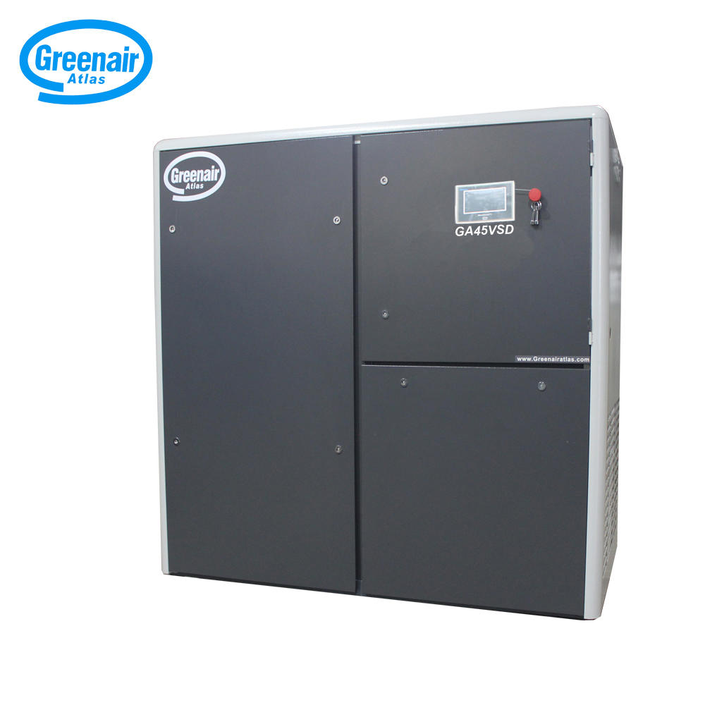 Greenair Atlas GA45VSD 45KW 60HP Variable Speed Oil Injected Screw Air Compressor