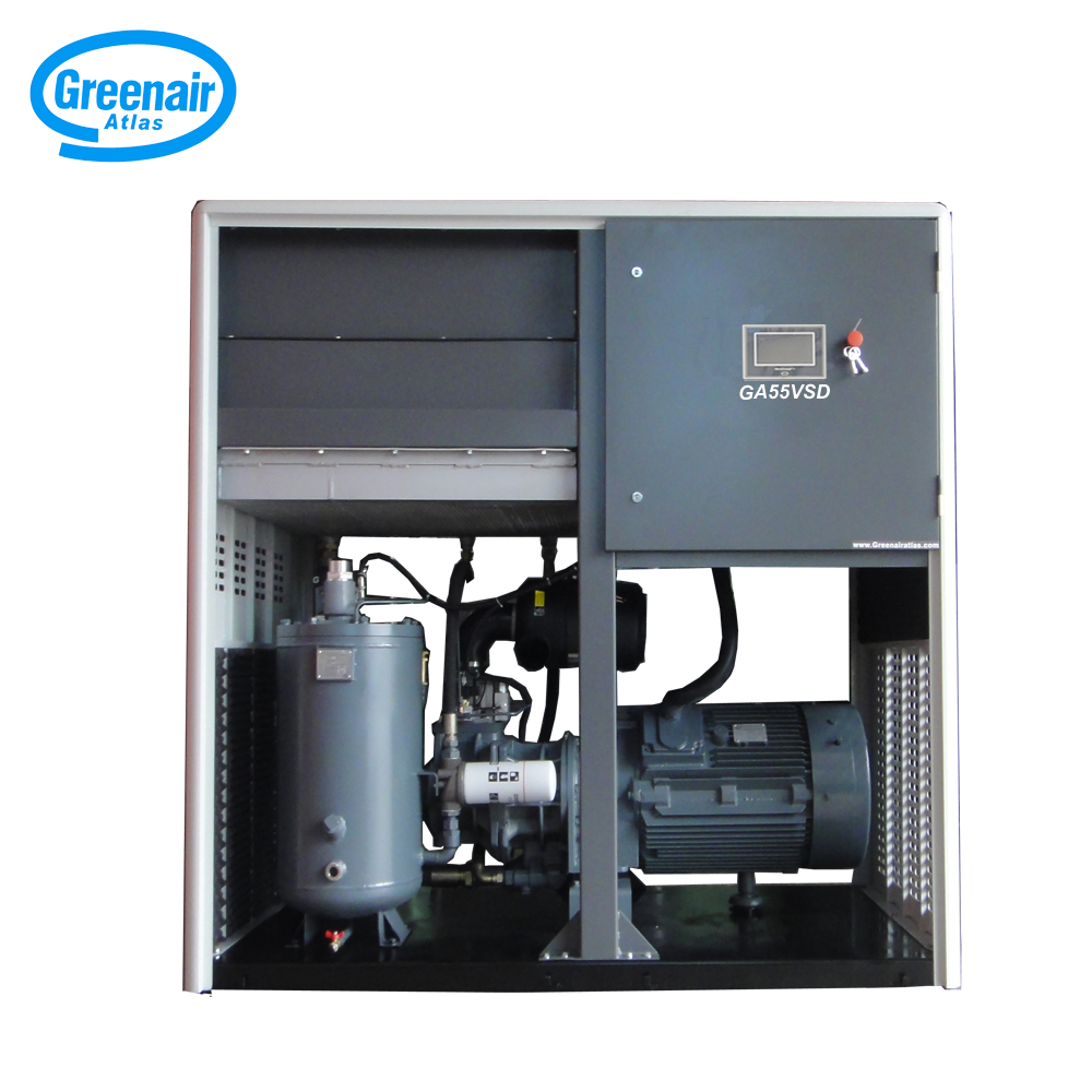 Atlas Greenair Screw Air Compressor cheap variable speed air compressor supplier customization-1