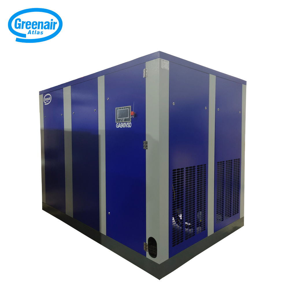 Atlas Greenair Screw Air Compressor variable speed air compressor with an asynchronous motor for tropical area-2