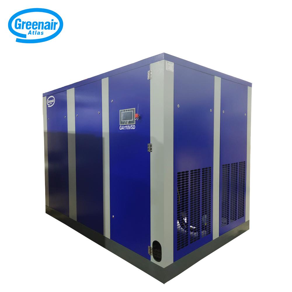 Atlas Greenair Screw Air Compressor variable speed air compressor with four pole motor for tropical area-1