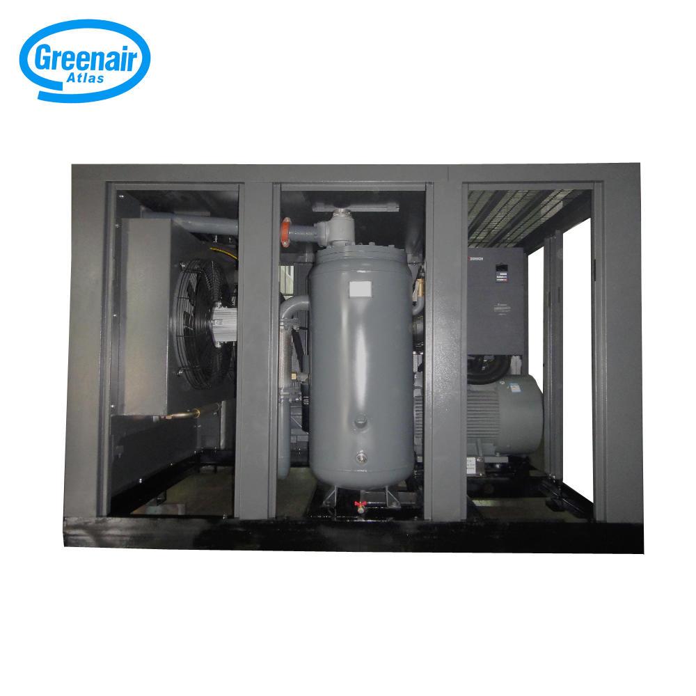 Greenair Atlas GA132VSD 132kW 175HP Variable Frequent Industrial Screw Air Compressor