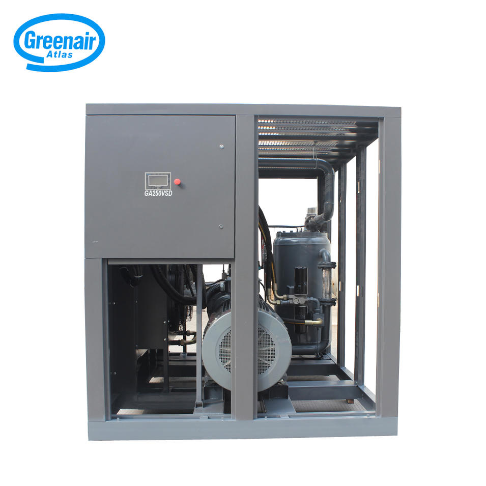 Greenair Atlas GA250VSD 250kW 335HP High Efficiency Screw Air Compressor