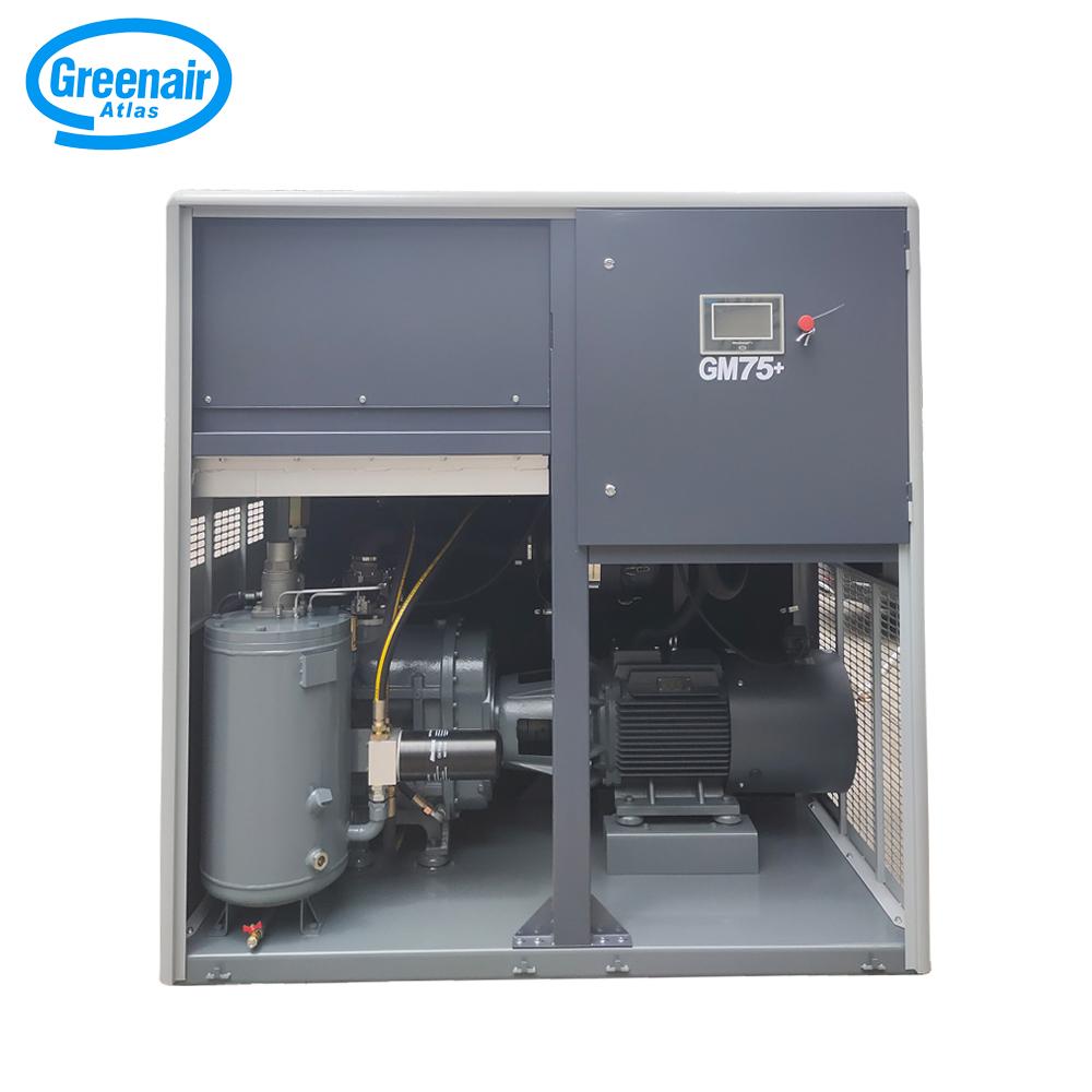 Atlas Greenair Screw Air Compressor custom variable speed air compressor with four pole motor for sale-2