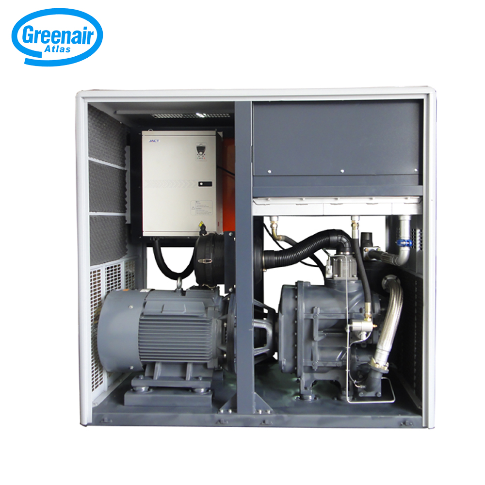 Atlas Greenair Screw Air Compressor custom variable speed air compressor with four pole motor for sale-1