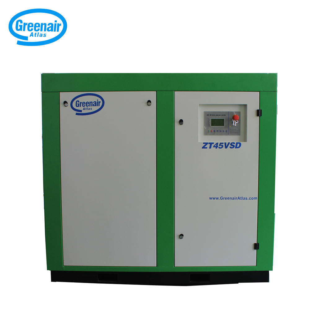 Greenair Atlas ZT45VSD 45kW Air Cooled Oil Free Screw Air Compressor