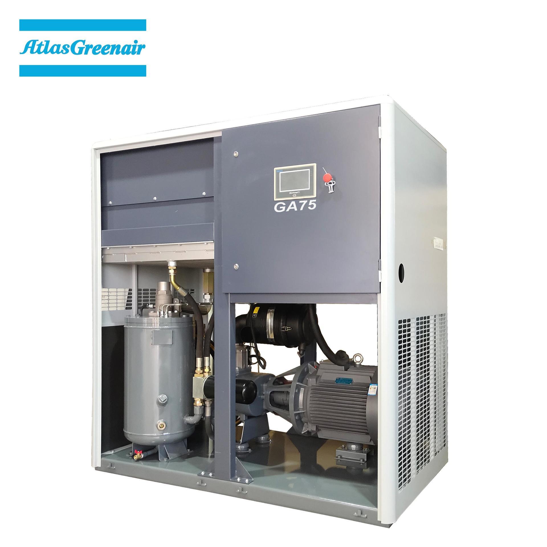Greenair Atlas GA75 Industrial Rotary Screw Air Compressor
