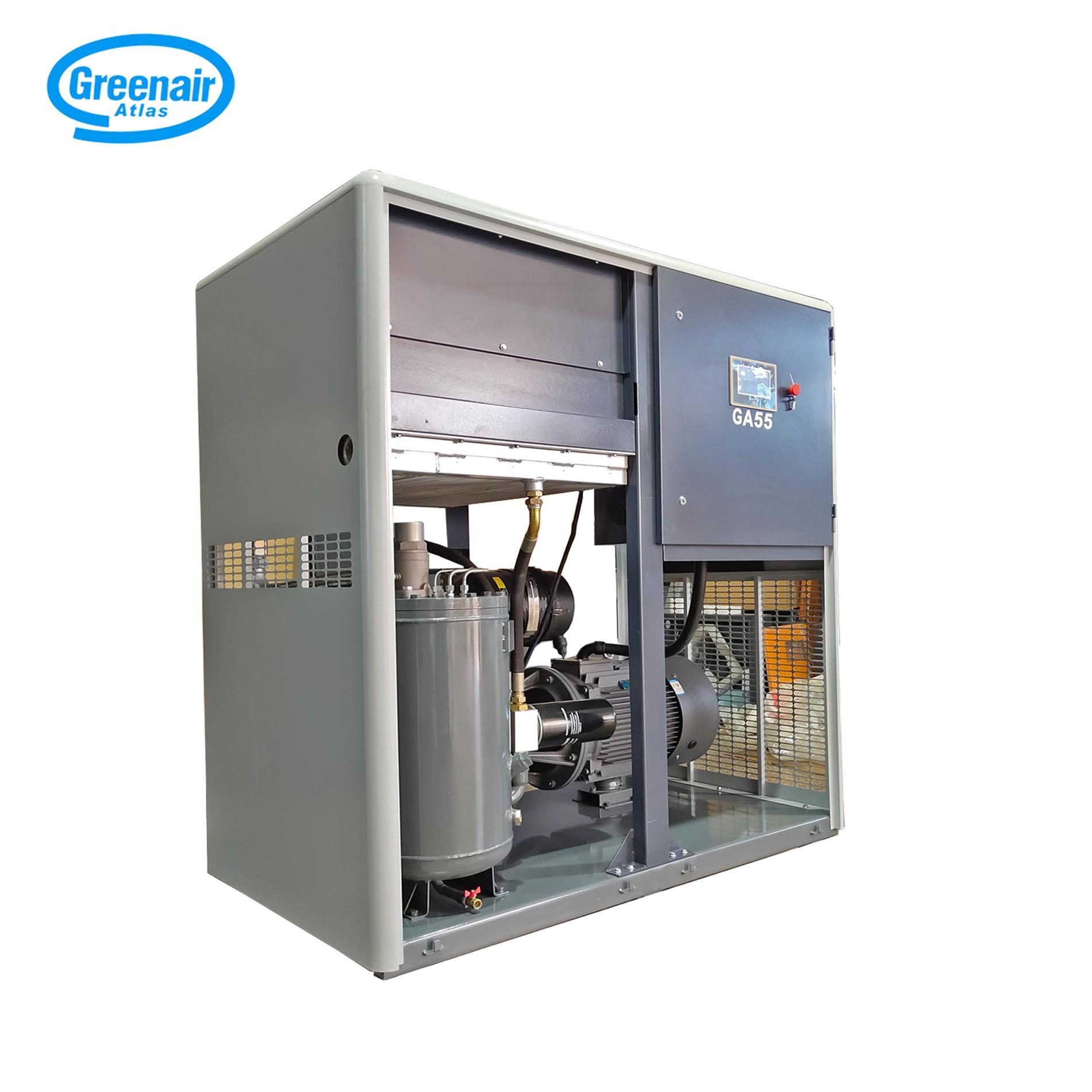 Greenair Atlas GA55 Electric Stationary Oil Injected Screw Air Compressor