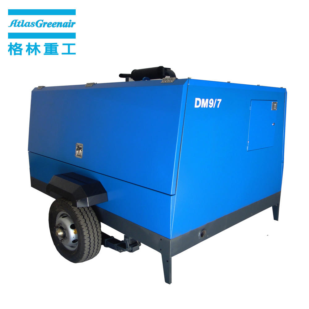 Atlas Greenair DM9/7 Diesel Engine Portable Screw Air Compressor