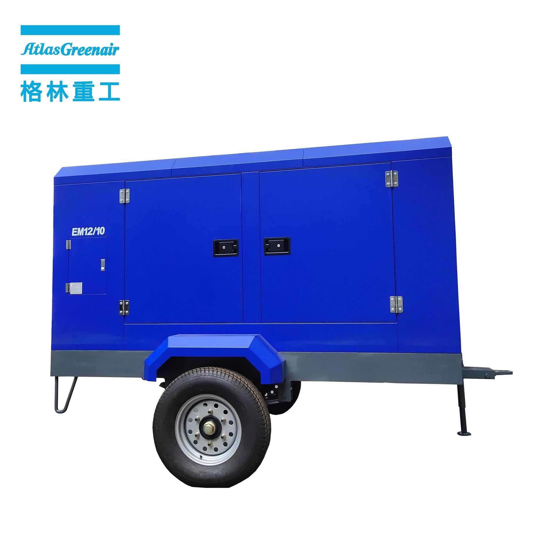 Atlas Greenair EM12/10 12m3/min 10Bar Electrical Mobile Screw Air Compressor
