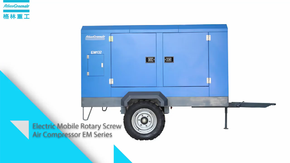 Electric Mobile Rotary Screw Air Compressor Display