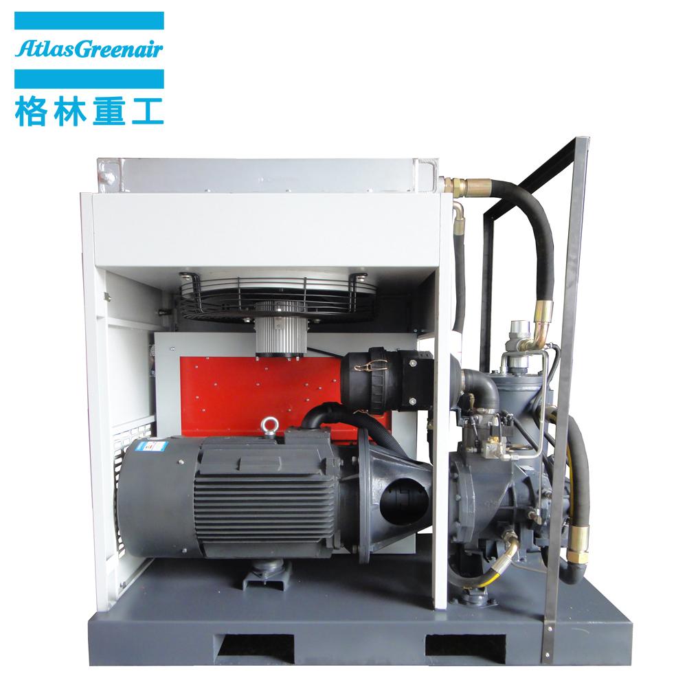 Atlas Greenair Screw Air Compressor wholesale fixed speed rotary screw air compressor with an oil content for sale-2