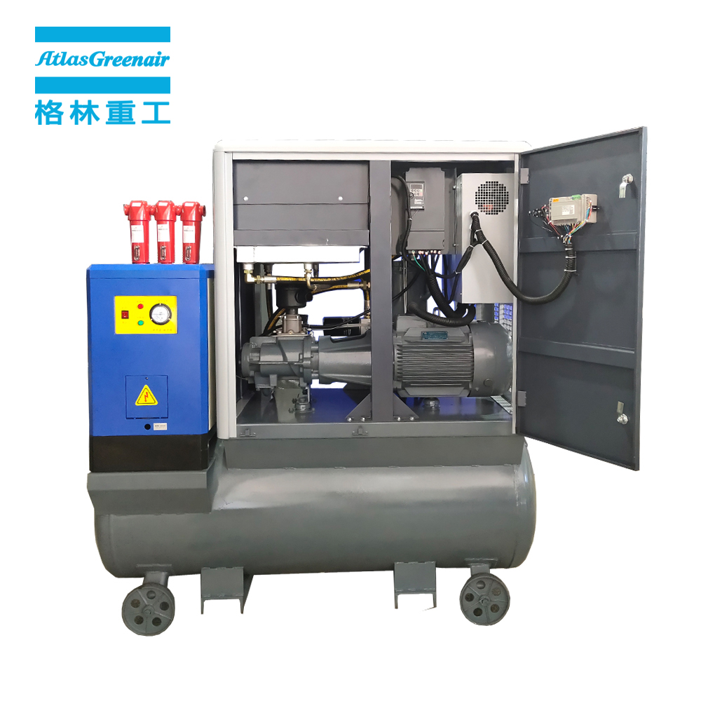 Atlas Greenair Screw Air Compressor top vsd compressor atlas copco factory for tropical area-1