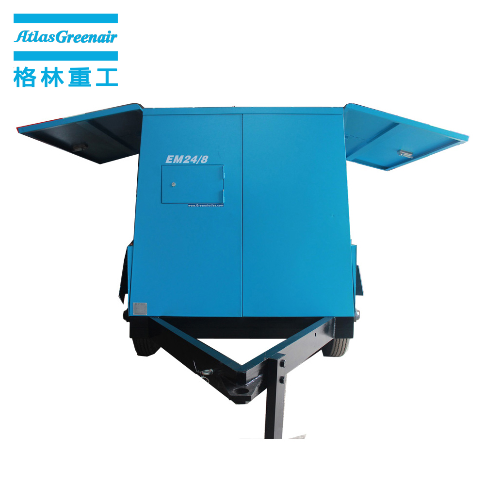 professional portable screw compressor with three stage oil-air separator wholesale-2