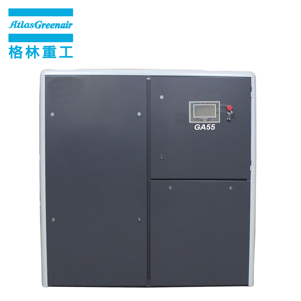 two stage fixed speed rotary screw air compressor with an oil content for tropical area-1