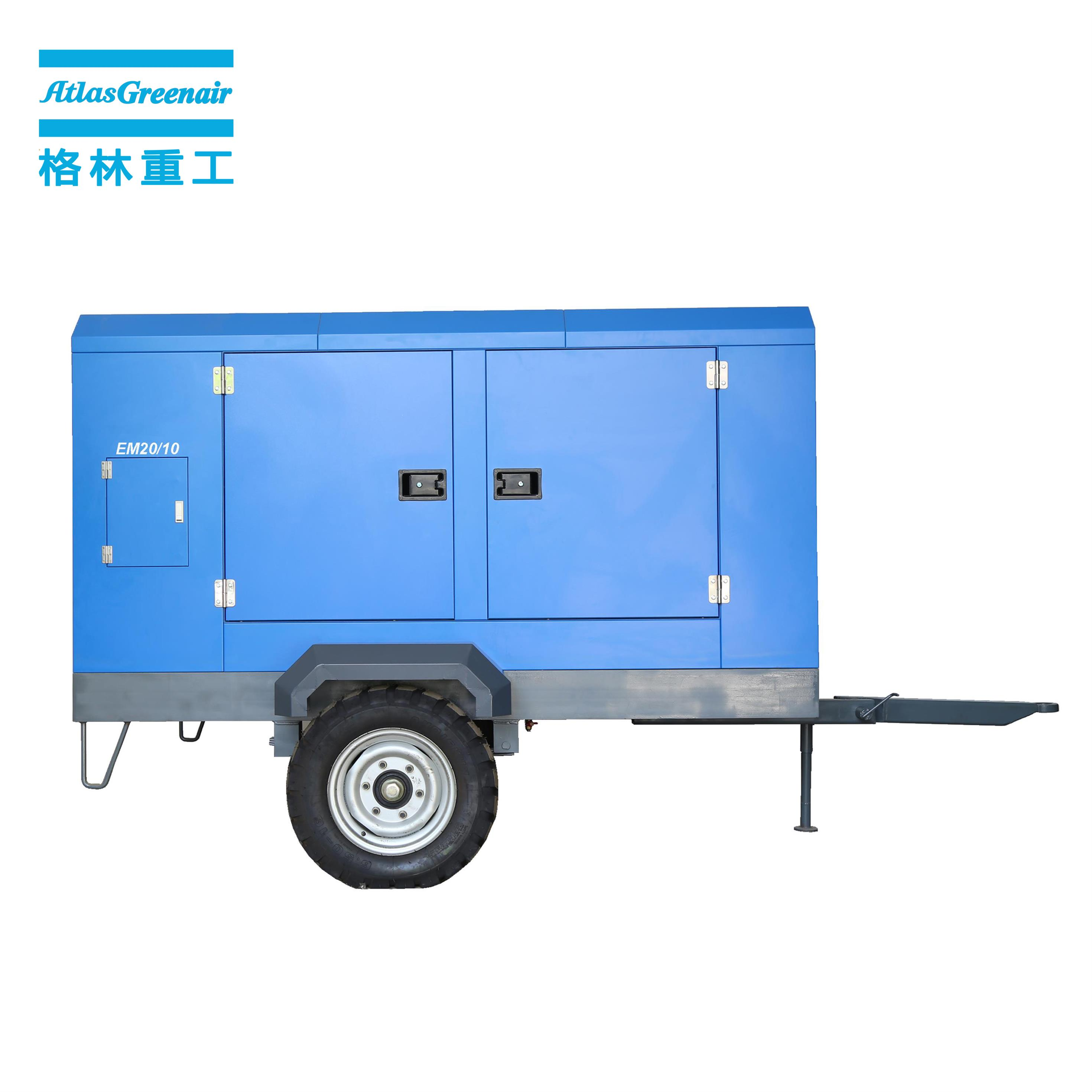 latest portable screw compressor with three stage oil-air separator for sale-1