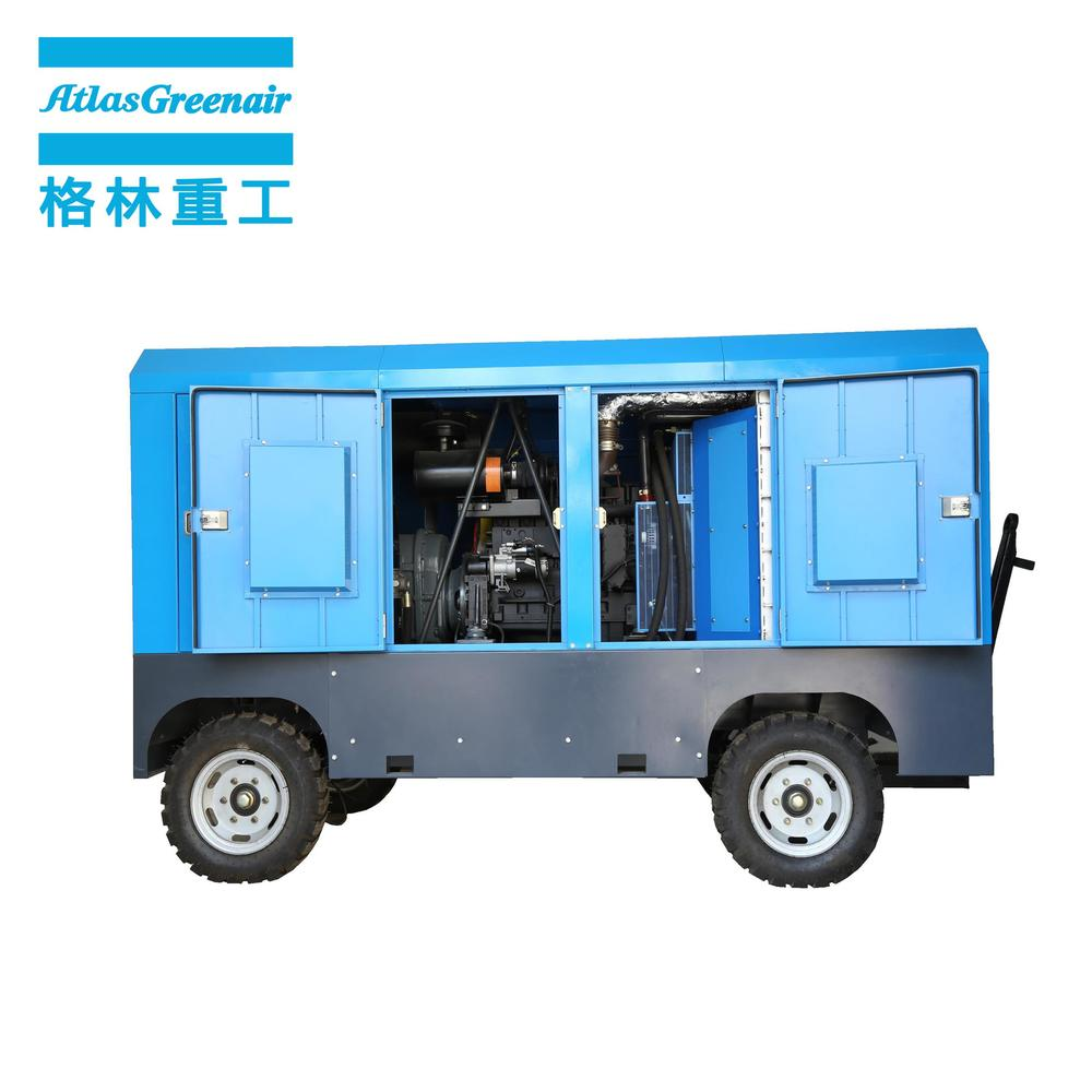 DM Series Portable Diesel Engine Mobile Rotary Screw Air Compressor