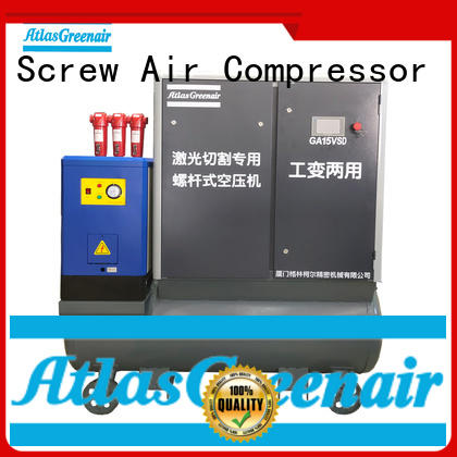 Atlas Greenair Screw Air Compressor variable speed air compressor with four pole motor for sale