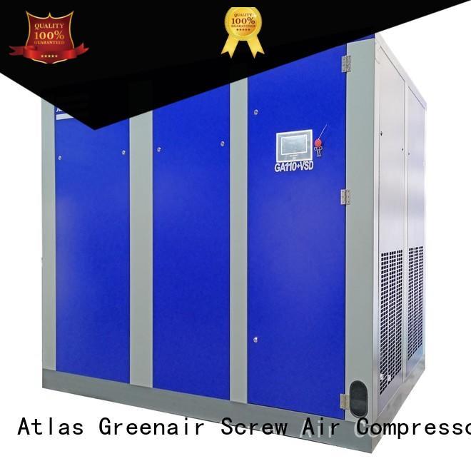 Atlas Greenair Screw Air Compressor cheap vsd compressor atlas copco factory for tropical area