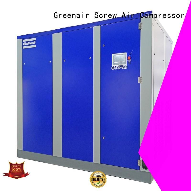 Atlas Greenair Screw Air Compressor wholesale variable speed air compressor with four pole motor customization