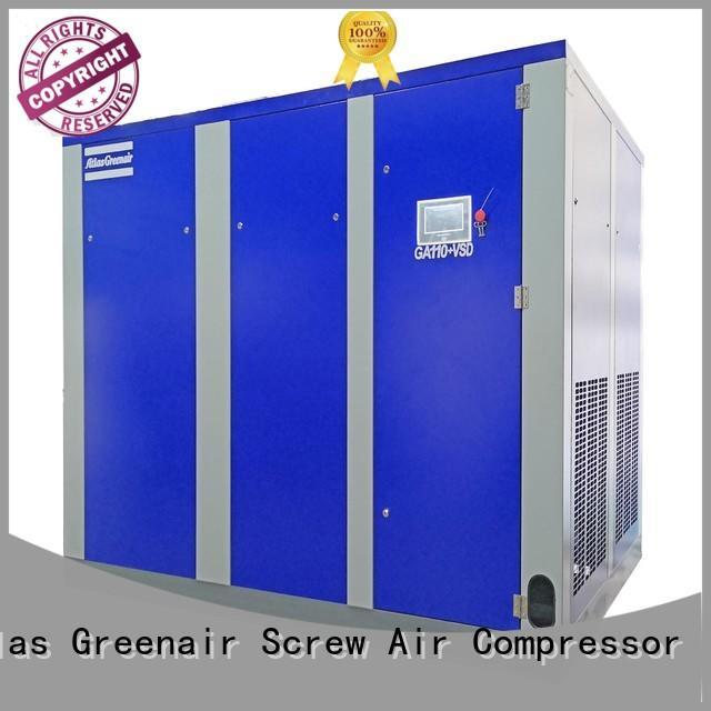 Atlas Greenair Screw Air Compressor two stage vsd compressor atlas copco factory for sale