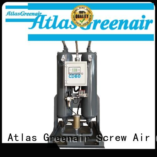 Atlas Greenair Screw Air Compressor compressed air dryer supplier for sale