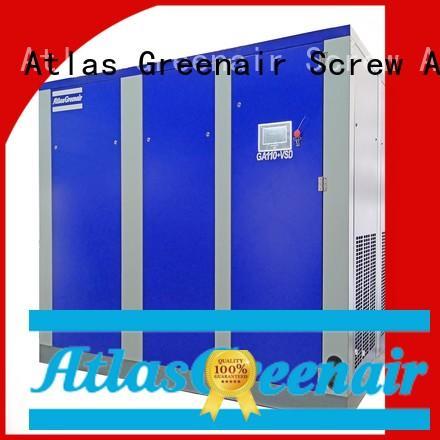 variable speed air compressor with a single air compressor for tropical area Atlas Greenair Screw Air Compressor