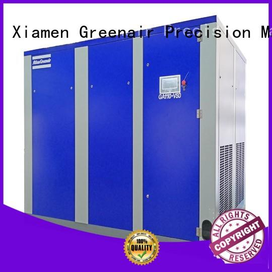 Atlas Greenair Screw Air Compressor variable speed air compressor with four pole motor for tropical area