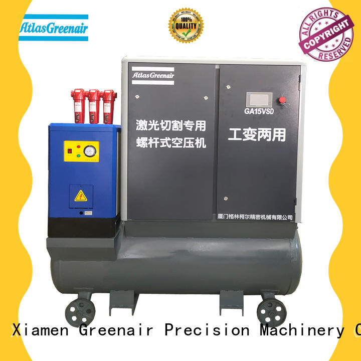 Atlas Greenair Screw Air Compressor new variable speed air compressor with four pole motor for sale