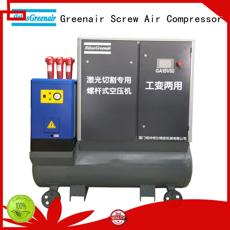 Atlas Greenair Screw Air Compressor customized vsd compressor atlas copco with four pole motor customization