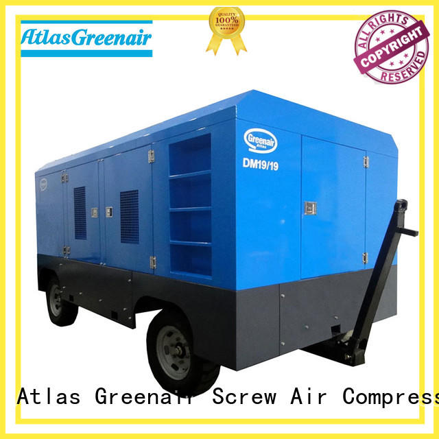 Atlas Greenair Screw Air Compressor best mobile air compressor manufacturer design