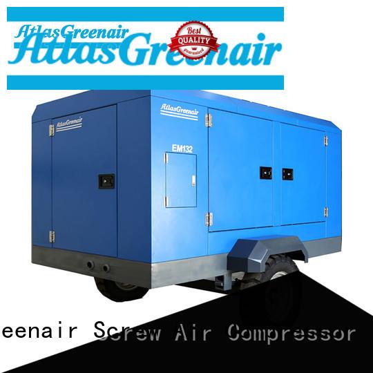 Atlas Greenair Screw Air Compressor portable screw compressor easy maintenance wholesale