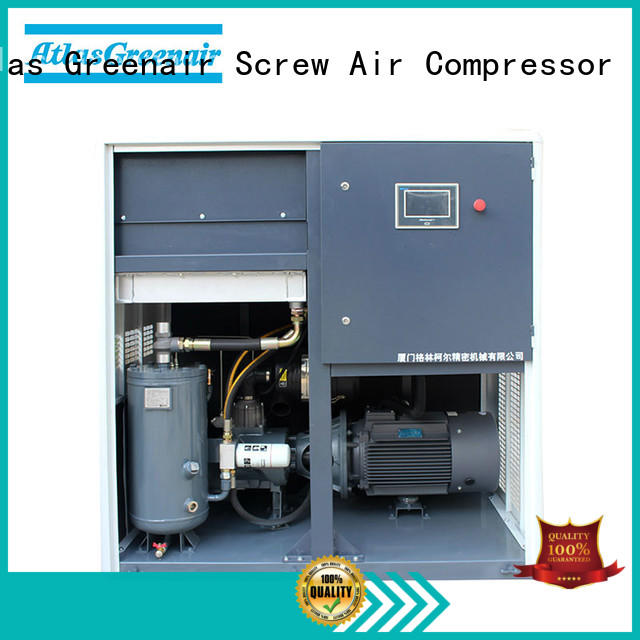 Atlas Greenair Screw Air Compressor variable speed air compressor with four pole motor customization