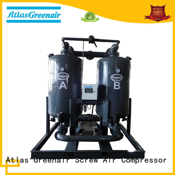 desiccant air dryer for air compressor for a high precision operation Atlas Greenair Screw Air Compressor